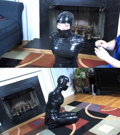 Super bondage, domination and mummification for sexy young bitch