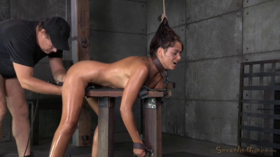 Busty Brunette Ava Dalush Chained Shackled In Strict Bondage Brutal Deepthroat Rough Sex (2014)