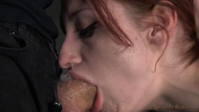 Redheaded Violet Monroe strictly shackled
