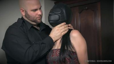 Super bondage, torture and spanking for naked brunette part1