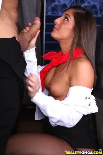 Sexy Beautiful Stewardess Coming On Board