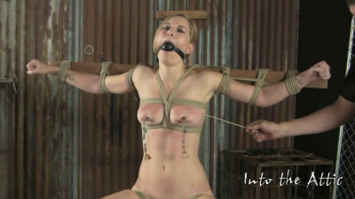 Super bondage, spanking and torture for sexy naked blonde part 2