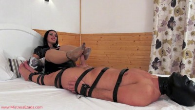 Mistress Ezada Sinn-Footjob gone awry.