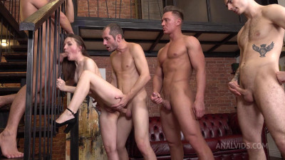 Hot Baby Bamby Takes 4 Cocks With DP & Deep Throat