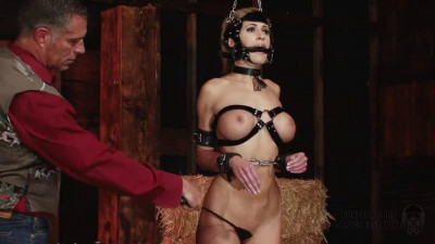 Super bondage, domination and spanking for sexy naked blonde Full HD1080