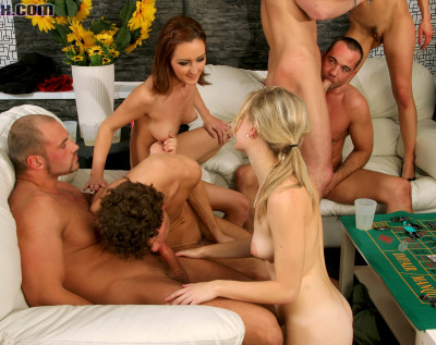 Bisexual Orgy Got Off To A Hardcore As Hot Fuck Start