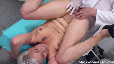 Kathy White gets her senior cunt examined and made to cum FullHD 1080p