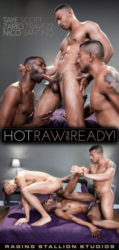 Raging Stallion - Nico Santino, Taye Scott & Zario Travezz (720p)