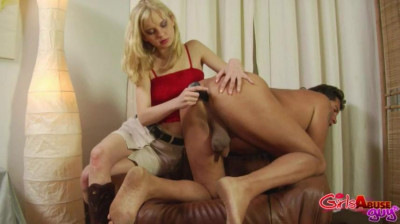 Girls Abuse Guys - Fucked In The Armchair