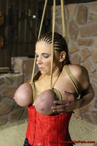 Hard Tit Punishment for Bettine in the new Dungeon