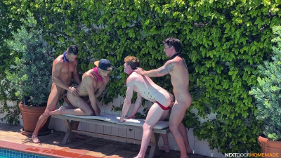 NextDoorHomemade – Poolside 4-Way – Dakota, Jax, Max and Devyn