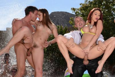 Description Seductive Hottie Invites Her Friends For A Pool Party