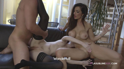 Kattie Gold And Priscilla Salerno Hot Threesome
