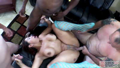 Big booty milf slut tattoed bitch queen fucked in the orgy