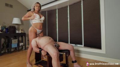 Goddess Becky Strapped Down And Straddled