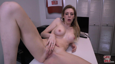 Kay masturbates on the office desk 720p