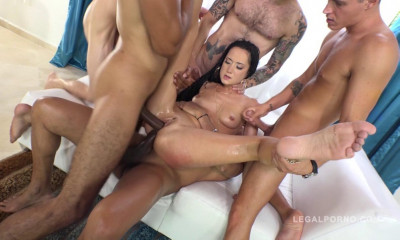Total anal gangbang with DP & triple penetration