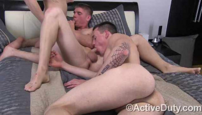Young Recruits In Threesome Fuck