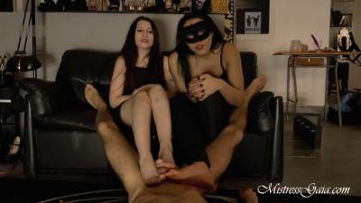 Mistress Gaia - Double Foot Job Have A Big Price