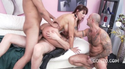 Description Brutal gangbang with double anal for sexy milf