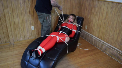 Lisa Scott.. Red Spandex Captive Part 2