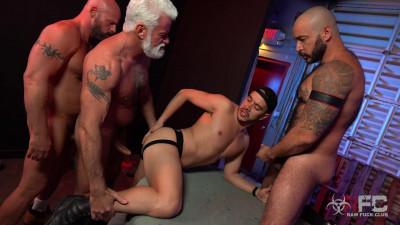 Raw Fuck Club – Alessio Vega vs Three Muscle Daddies