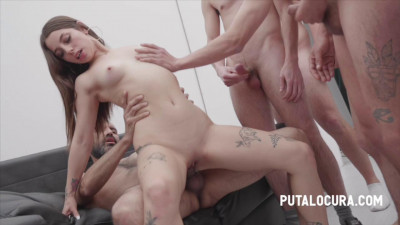 Bukkake Orgy For Pretty Teen Roma Amor