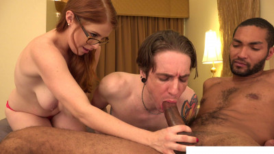 Honey, let me lick his dick!