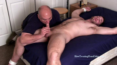Description Slow Teasing Handjobs - Anthony Tied To The Bed