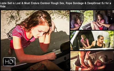 SexualDisgrace – Mar 06, 2015 – Lizzie Bell Is Lost & Must Endure Outdoor Rough Sex