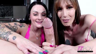 Lexi Mae, Melanie Brooks – WILD Double BJ Threesome FullHD 1080p