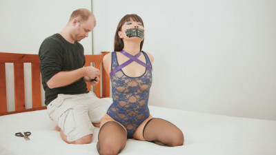 She is gagged and the switched