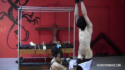 Gay BDSM Ryann Ruckers ,Damien Rage - Flogged & Plastic Wrapped