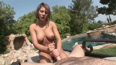 Description Big boobed whore gives nice blowjob