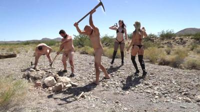 Goddess Platinum, Mistress Dandy - Chastity Chain Gang
