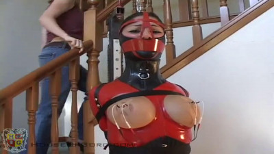 Bondage, strappado and torture for hot girl in latex part 2 HD 1080p