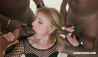 Creampie Gangbang Party With Many Black Dicks