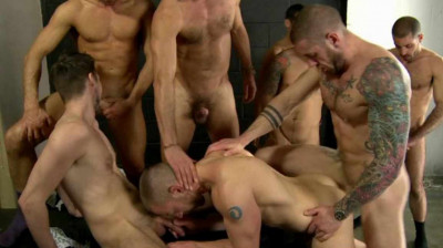 Twelve Brutal Men In Gang bang