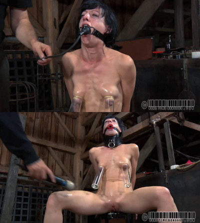 Bondage, spanking and torture for naked hot brunette part 1