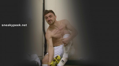 There's a badboy look to this lean, muscular footballer that's so sexy