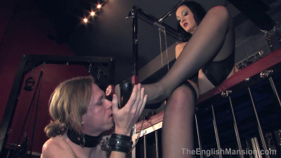 The English Mansion - Slut For Nylons - Domination HD - still, strap, vibrator, penetration