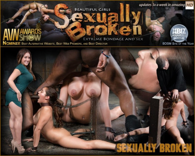 Lush Jean Michaels Gets The Sexuallybroken Treatment, Bound And Deepthroating On Two Big Cocks