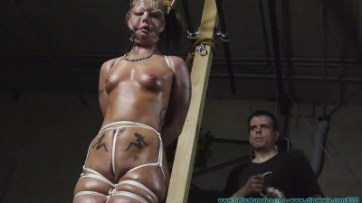 Bondage, domination and hogtie for very horny blonde part 1