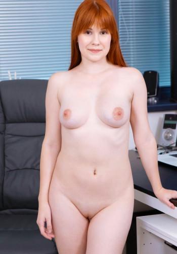 Sweet Angelina Ginger chick fucks for job FullHD 1080p
