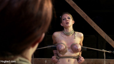 Something you have never seen before! – An Amazing 3 girl scene with brutal bondage and orgasms!