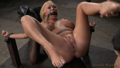 Sexy Blonde Restrained With Epic Deepthroat, Squirting Orgasms And Rough Fucking (2015)