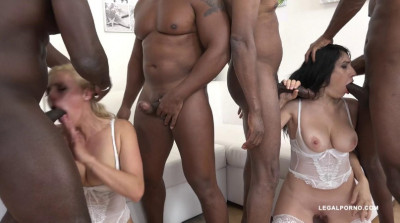Interracial double anal orgy with anal fisting