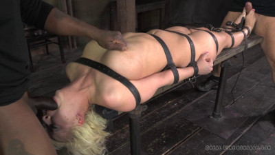 Description Cherry Torn belted down, planked and stuffed full of cock