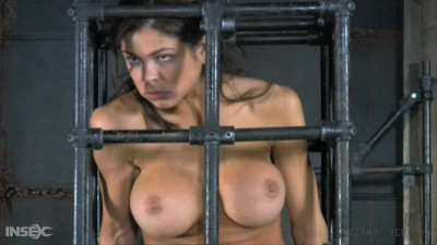 Hard bondage, suspension and torture for young brunette Full HD 1080p