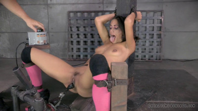 Description RealTimeBondage Hot Hispanic Lyla Storm gags on 10 inch